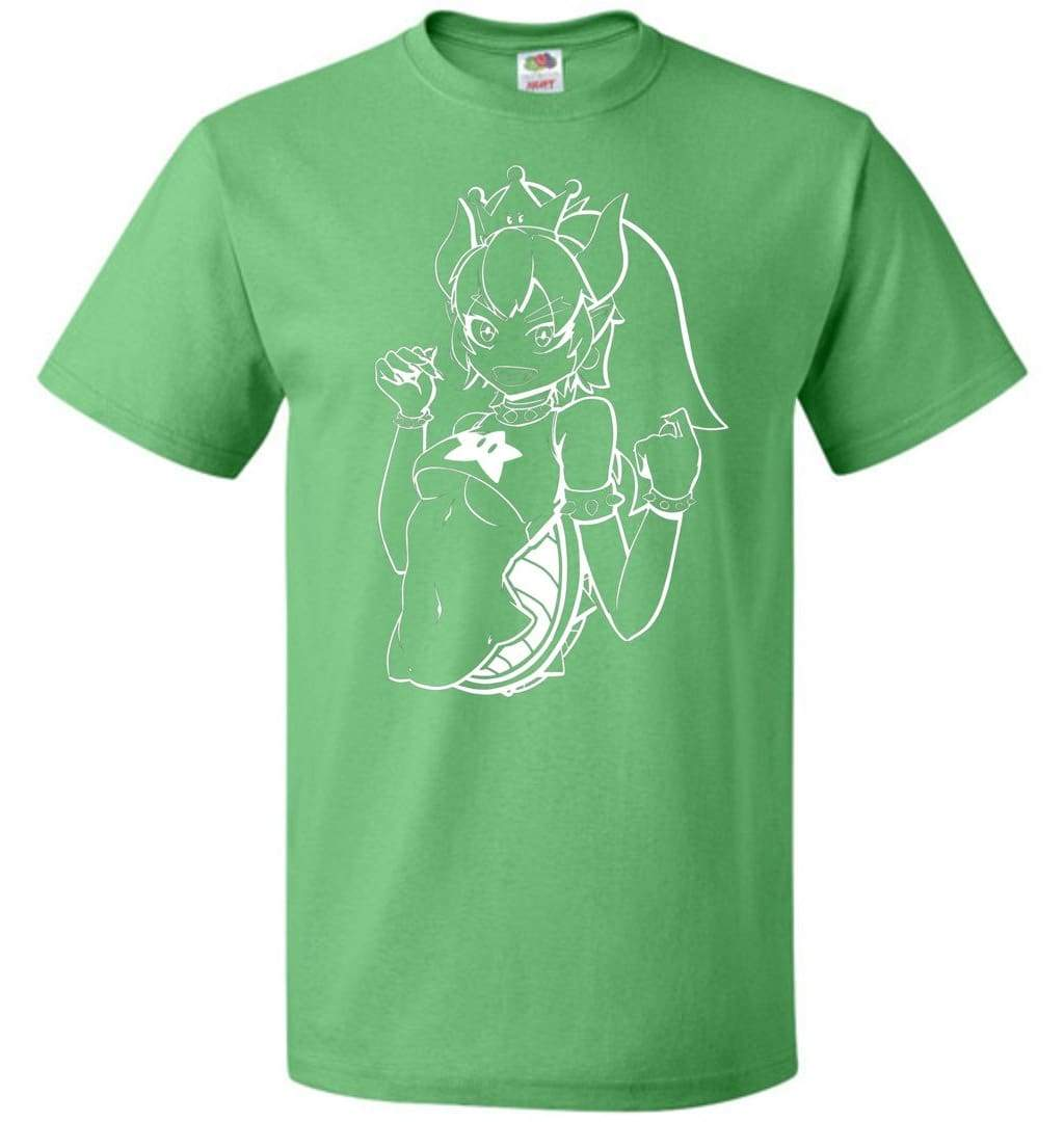 All Over Shirts Bowsette Green Sweatshirt