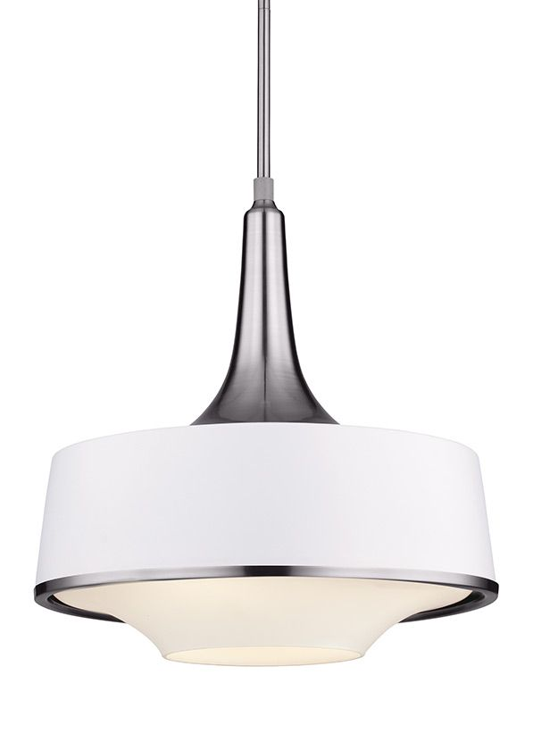 F2941/4BS/TXW,4 - Light Pendant Fixture,Brushed Steel / Textured White