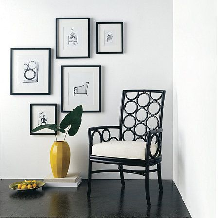 Laura Kirar Dining Arm Chair from McGuire Furn use as a desk chair ...