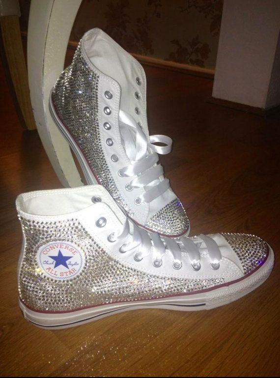 Bedazzled rhinestone converse all star on Wanelo  d741c0b24