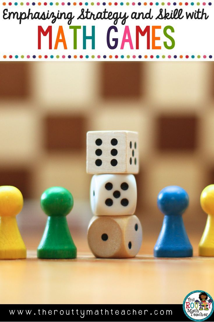 Emphasizing Strategy and Skill with Math Games | Game ideas, Free ...