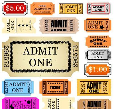 Free Vector Graphics, Icons, Websites Themes Cinema, Printing - admit one ticket template