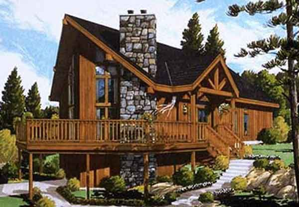 House Plan 033 00006 Vacation Plan 1 500 Square Feet 3 4 Bedrooms 2 Bathrooms Vacation House Plans Contemporary House Plans Cabin House Plans
