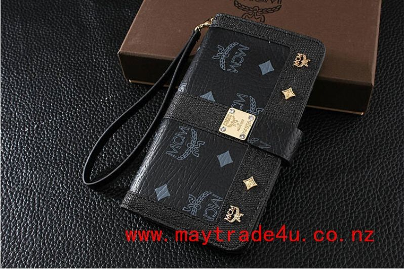 Facebook mcm iphone 6 plus wallet fashion case _black