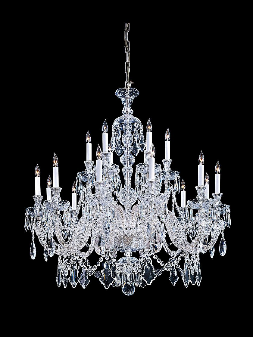 Premium Clear Crystal Chandelier With 18 Lights