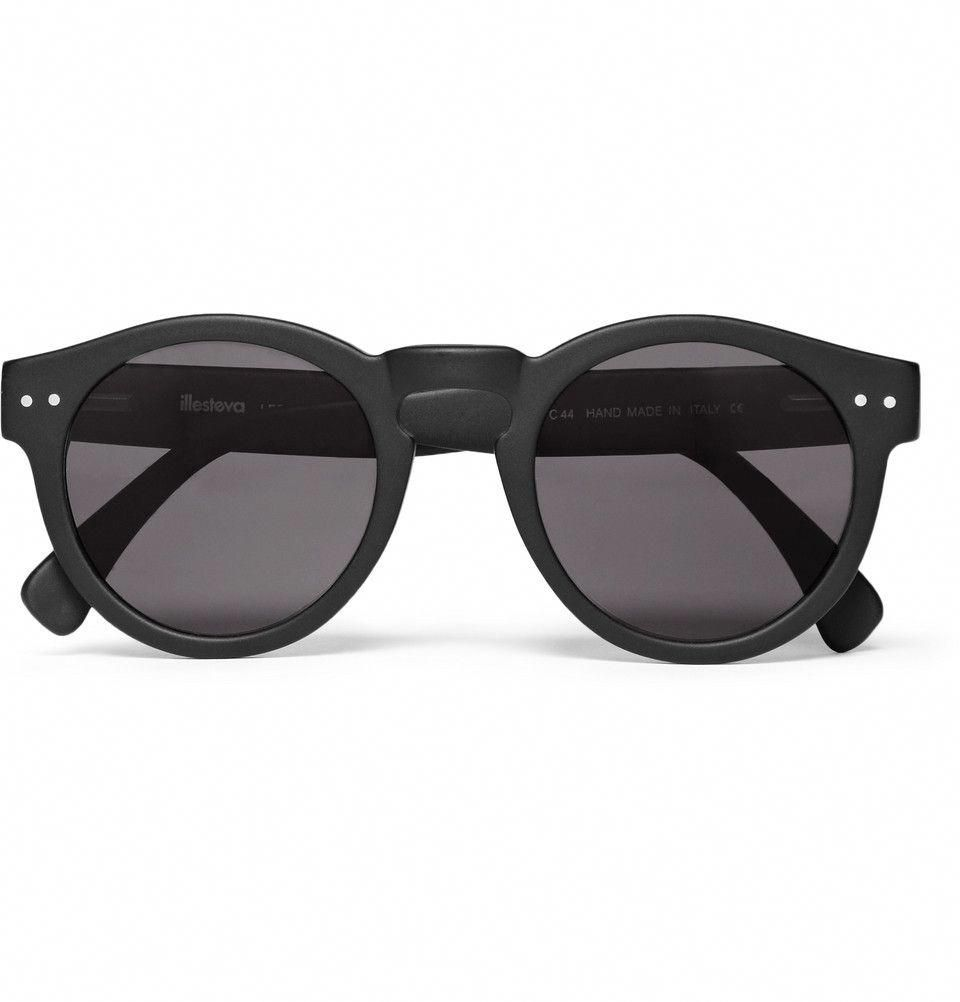 20a5a8fe69bdc Illesteva Leonard Round-Frame Acetate Sunglasses