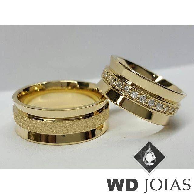 77d615defae Aliança Casamento Moeda Antiga Polida e Fosco 9mm MJM128 ...