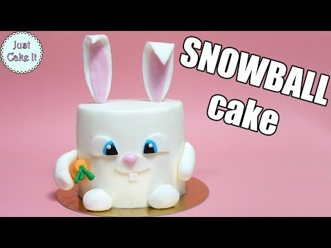 Hi I Made This Easy Snowball Rabbit Cake From The Secret Life Of Pets Movie Hope You Will Like It Rabbit Cake Kids Cake Toppers Bunny Cake