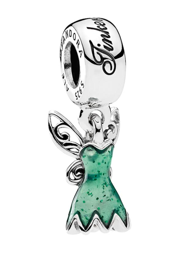 Tinker Bell Dress Disney Pandora Charm | Pandora charms disney ...