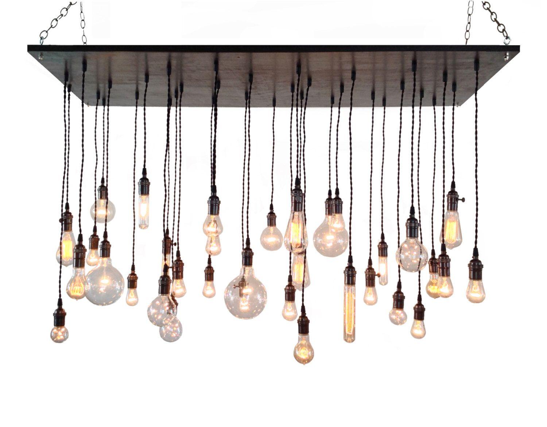 Industrial Chandelier- Rustic Lighting, Modern Chandelier, Edison ...