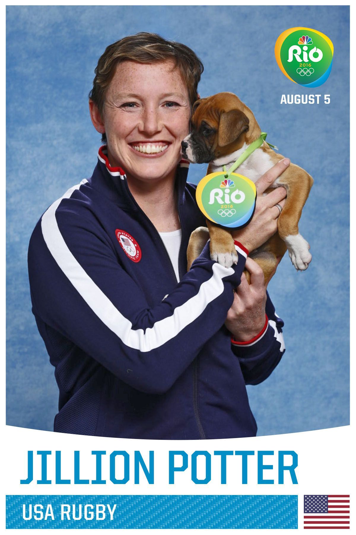 Team USA Olympians Posed With Puppies and the Pictures Are