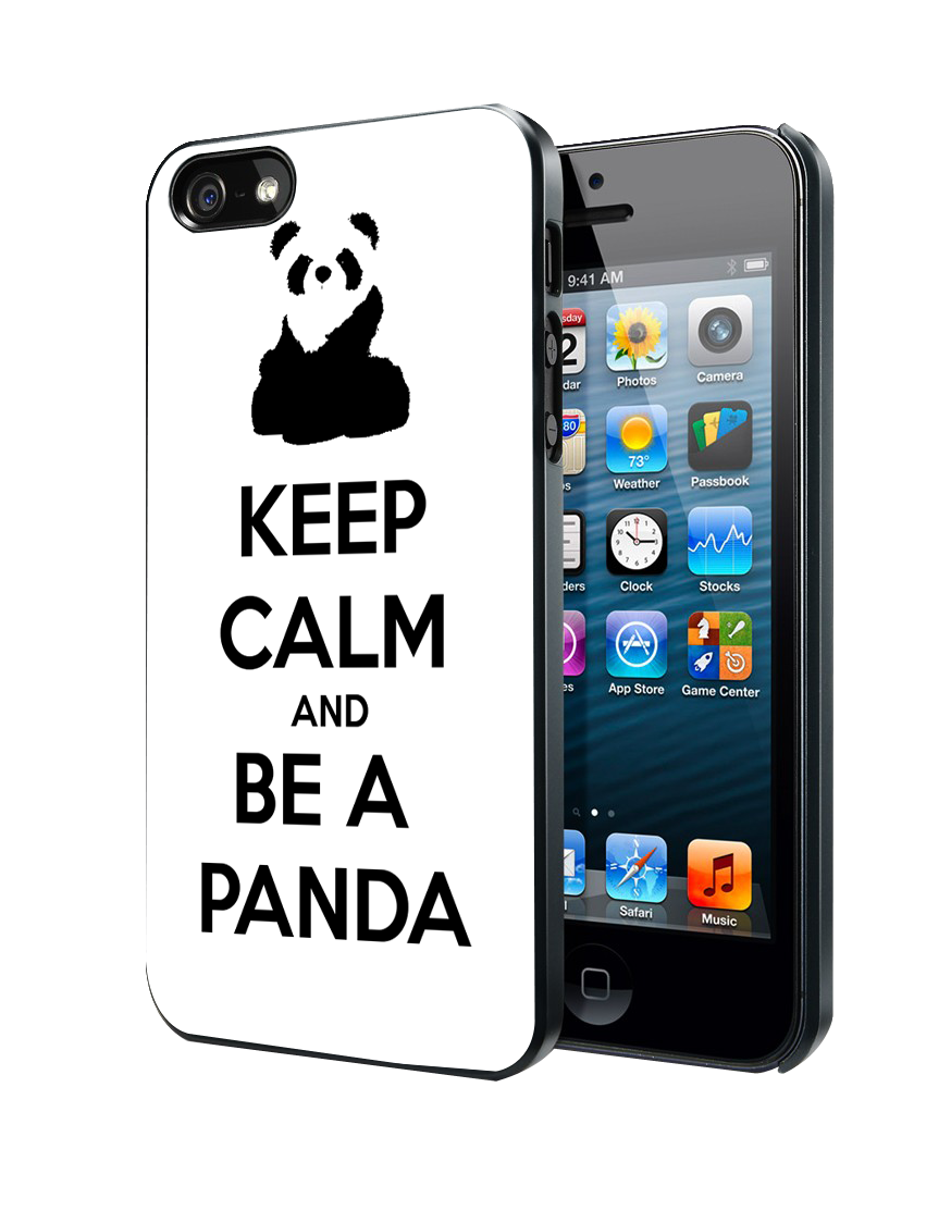 Keep Calm and Be A Panda Samsung Galaxy S3 S4 S5 Note 3 , iPhone 4 5 5c 6 Plus , iPod 4 5 case