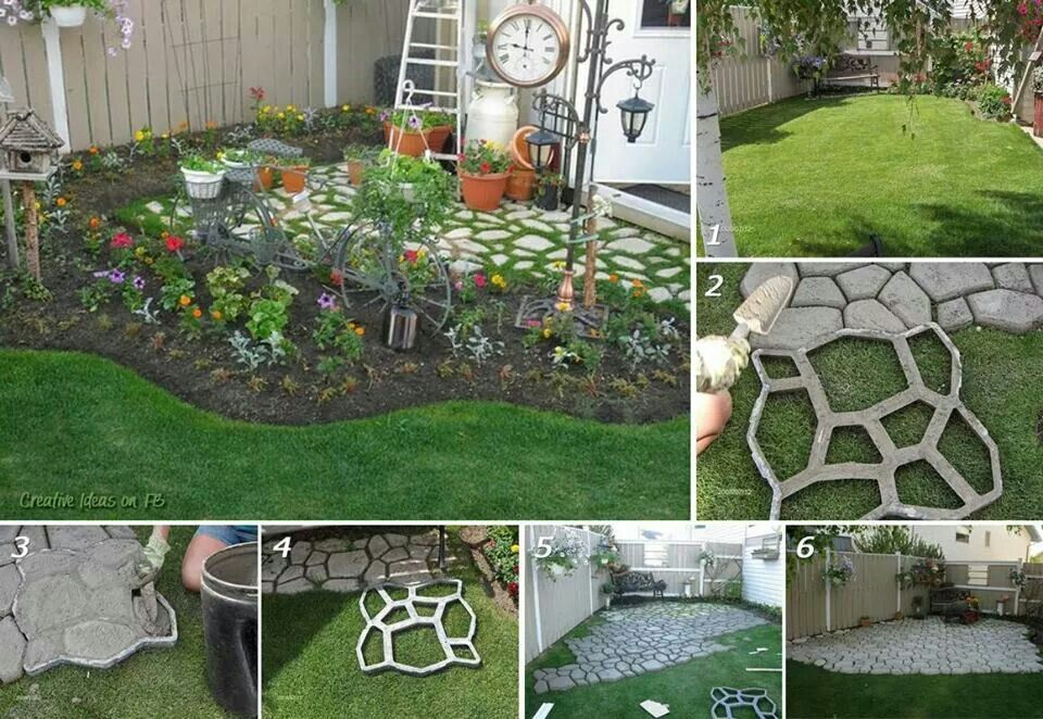 Jardines Con Piedras Y Cesped Decoracion De Artificial 50 Ideas Jardin Camino
