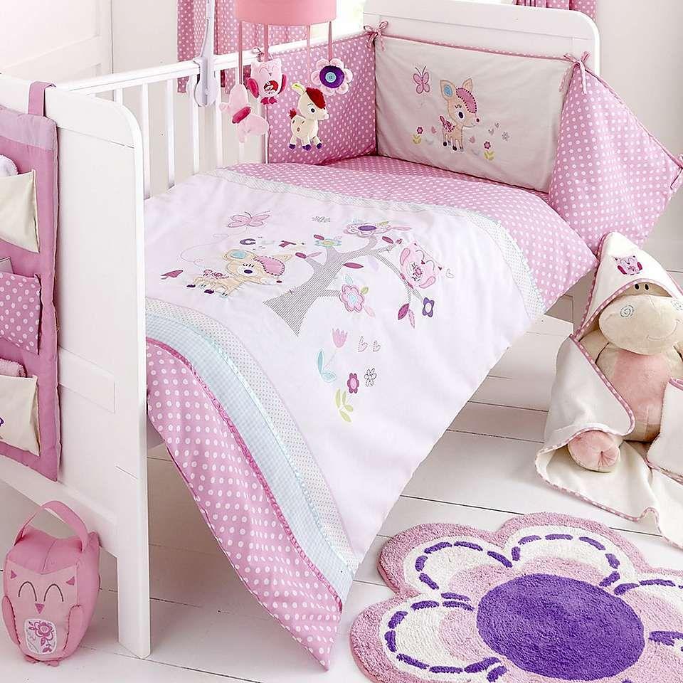 Darling Deer Nursery Cot Bed Duvet Set Dunelm Crib