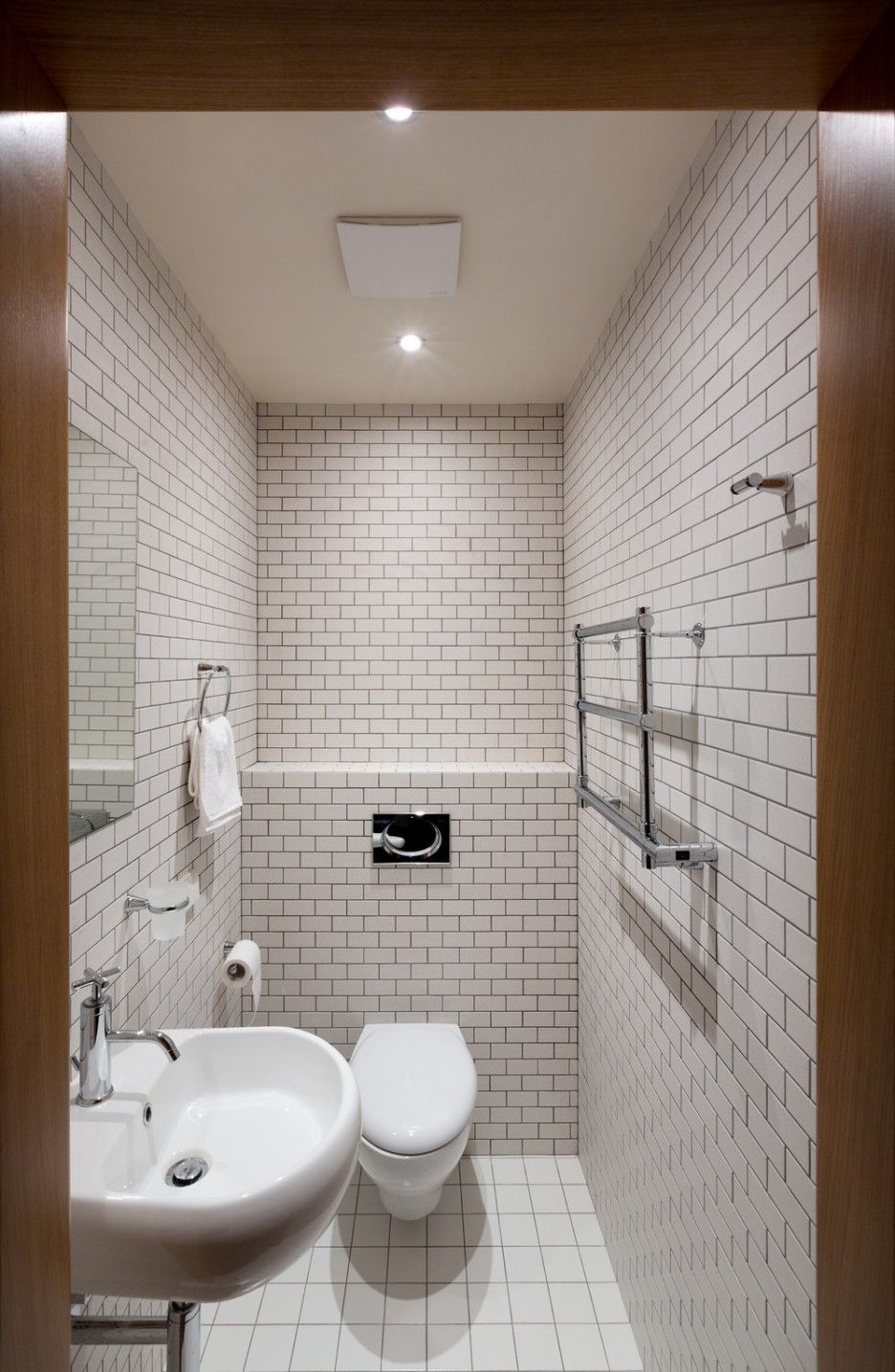 Chic Minimalist Interior In Smart Design Exquisite Small Toilet Room In Kiev Apartment Design Finished