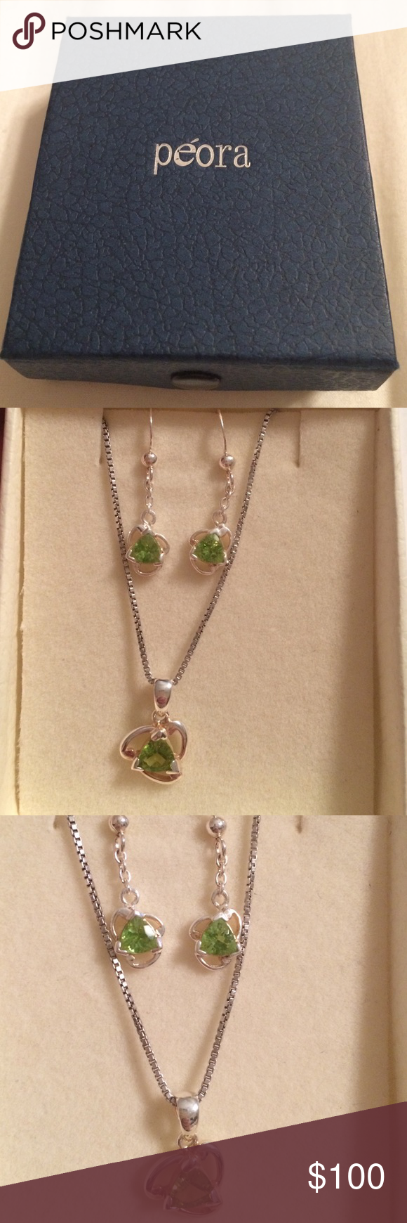 Peora sterling silver 1.50 carats 1.50 carats total weight.   18inch chain. peora Jewelry Necklaces
