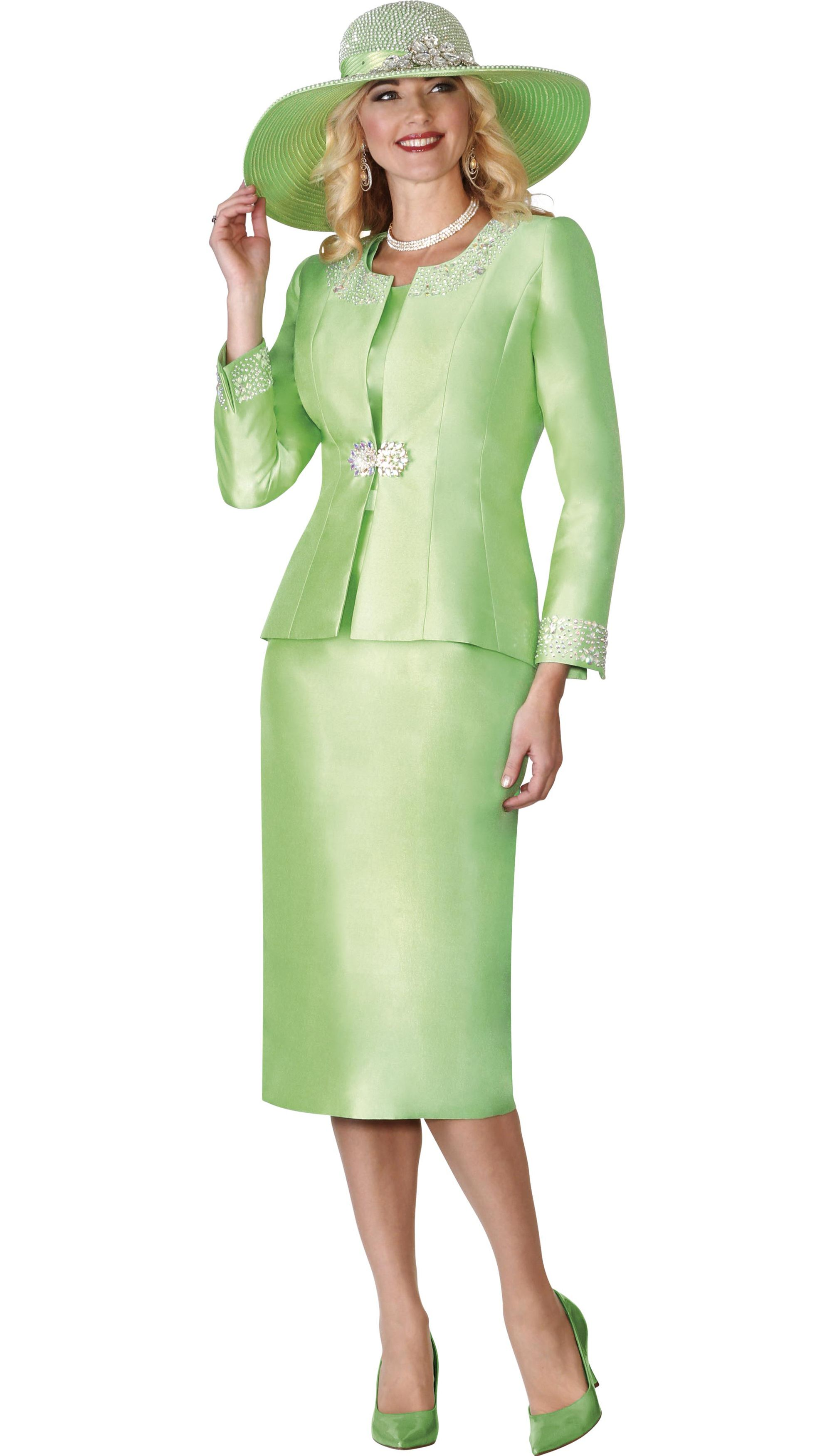 2f2c0715ba643 Style Lily and Taylor 3800 3 Piece Womens Skirt Suit With Embellished Jacket  Colors Paris Green Wine White Silver Melon Kiwi Black Sizes 4 6 8 10 12 14  16 ...