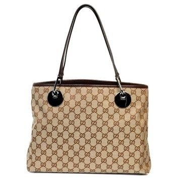 3816c730db69c Gucci Signature Eclipse Gg Monogram Canvas Beige And Brown Tote Bag. Get  one of the. tradesy.com