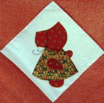 Sun bonnet sue quilt patterns free | SHOW N' TELL #sunbonnetsue