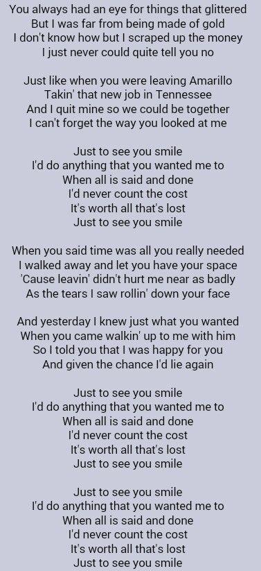 I Love Your Smile Lyrics
