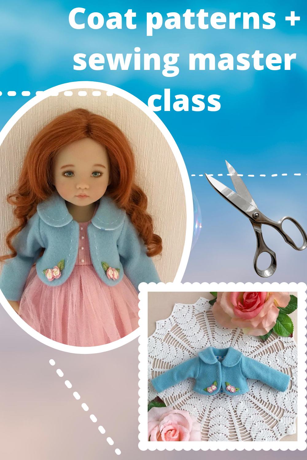 Coat and dress  for doll Little DarlingPatternSewing tutorialPDFjacket