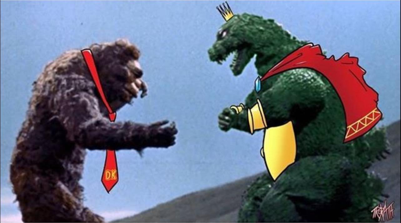 King Kong vs Godzilla as Donkey Kong and King K Rool | Godzilla | Smash  bros, Smash bros funny, Super smash bros memes