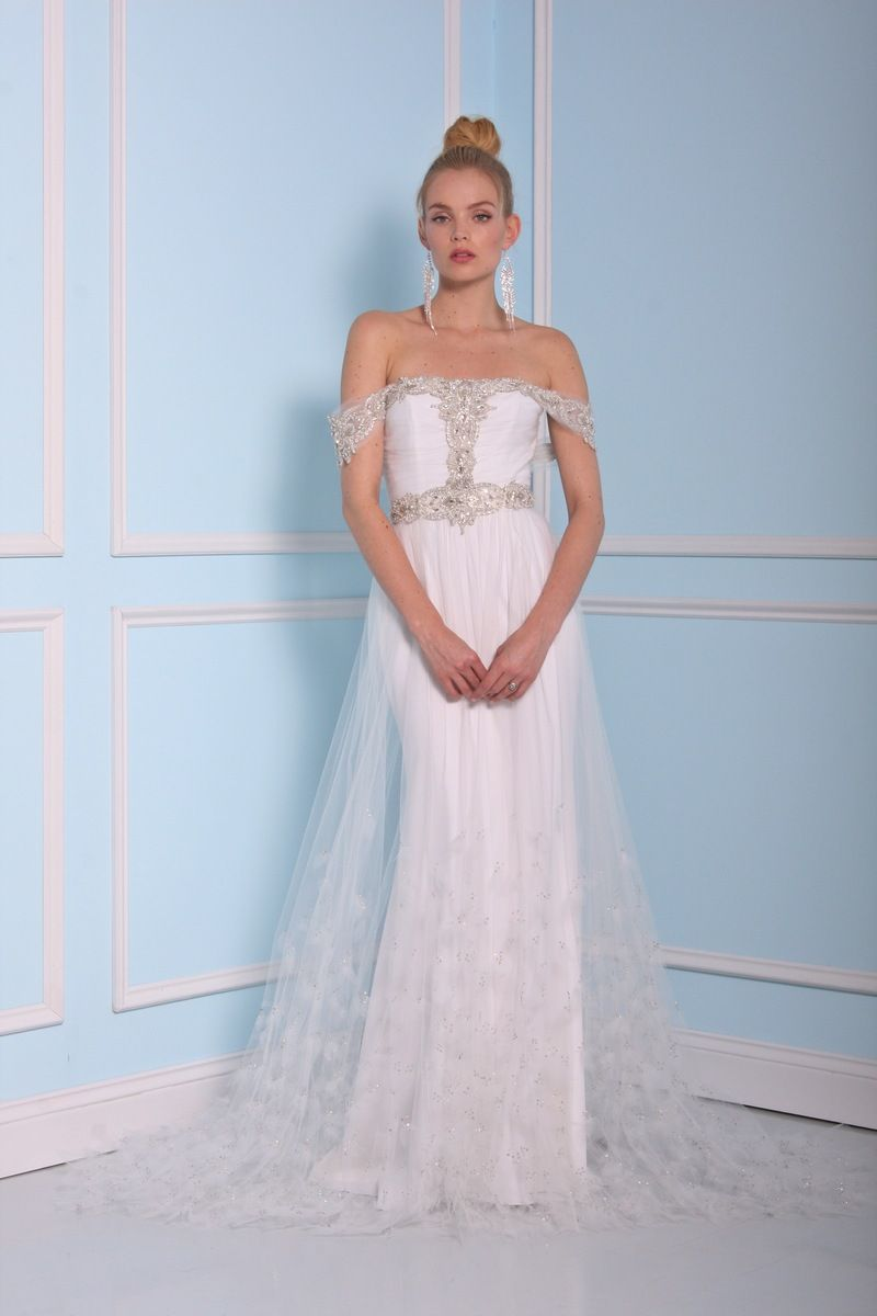 Off the shoulder wedding dress by Christian Siriano wedding dresses 2016 | fabmood.com