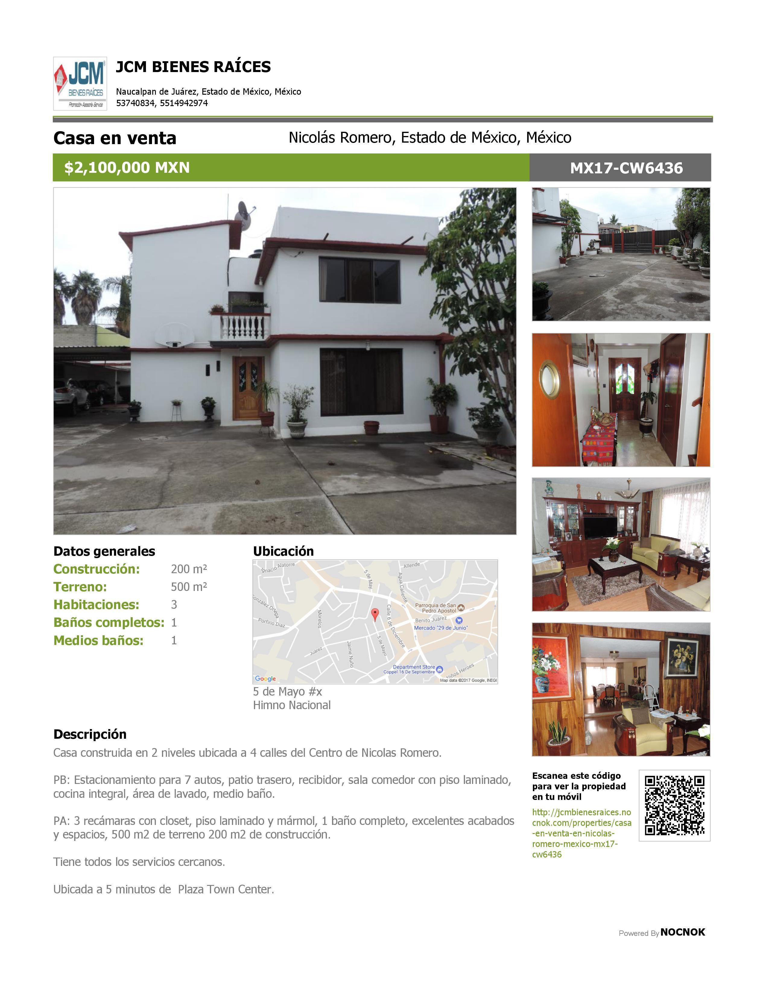 MX17CW6436 Casa en venta en calle 5 de Mayo, Himno