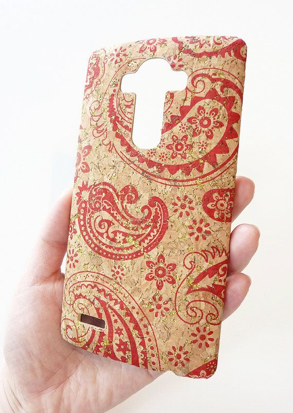Unique One of a kind Case made For LG G4 H815 Red Paisley ...