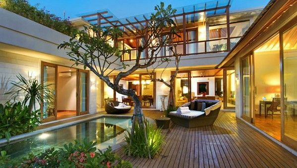 Modern Balinese Architecture In Bali Indonesia Fusing Modern