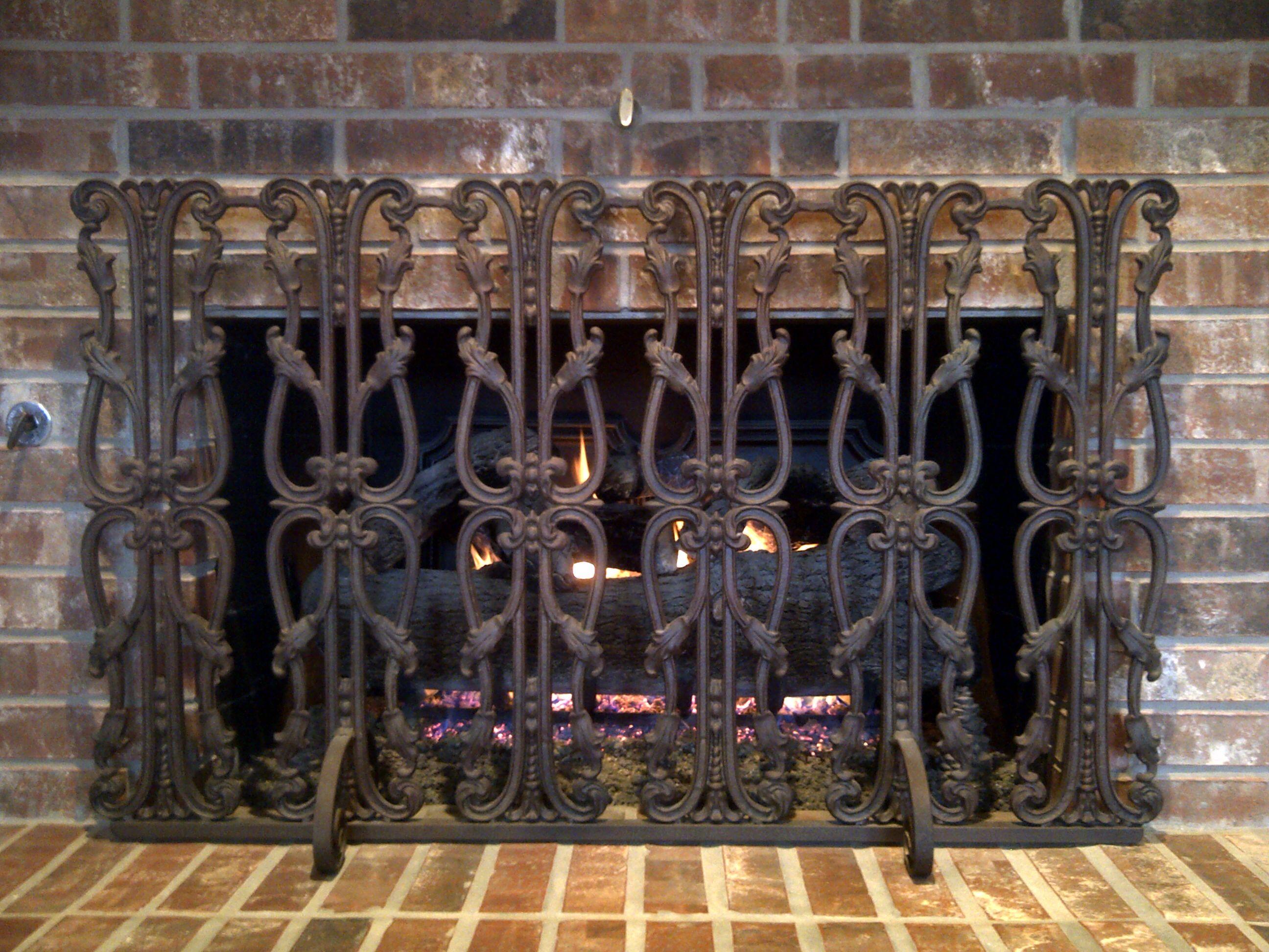 Decorative Iron Fireplace Screens Fireplace Fireplace Screens