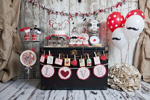 Hostess with the Mostess® - Valentine's {Mustache + Lips = Love} Party