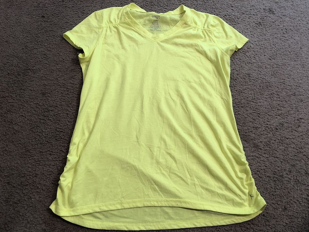 6400e866ac65a DANSKIN Now Semi-Fitted Bright Neon V-Neck Yoga crossFIT Athletic ...