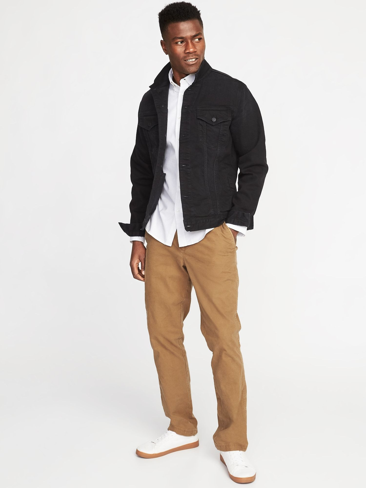 Product Black Tee Men Denim Jacket Men Mens Jackets
