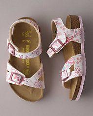 girls birkenstock® floral strap sandals | Girls shoes kids
