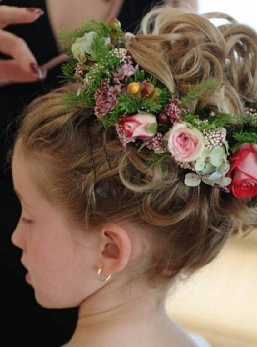 Admirable 1000 Images About Flower Girl Hairstyles On Pinterest Updo Short Hairstyles For Black Women Fulllsitofus