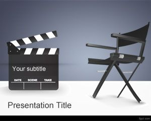 movie director powerpoint template is a free movies ppt template