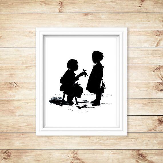 Children Silhouette Printable Nursery by DigitalImagesbyCrash