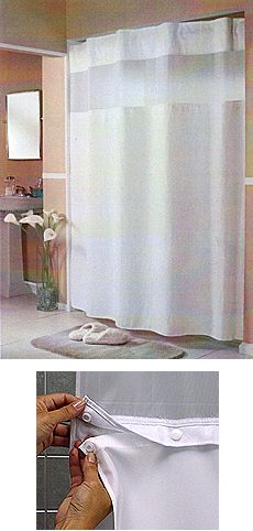 Hotel Grade Pique Waffle HooklessR Shower Curtain With Snap In Liner 54