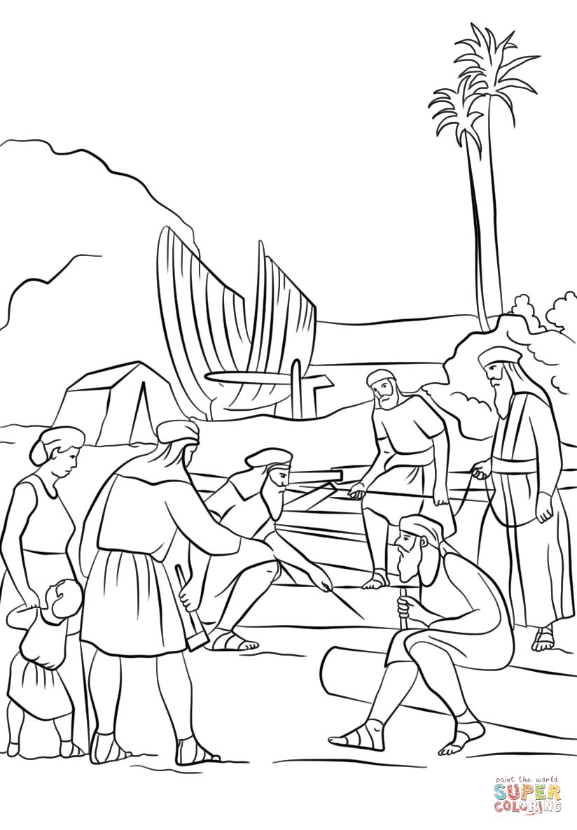 Nephi Builds A Boat Super Coloring Coloring Pages Flamingo Coloring Page Coloring Pictures