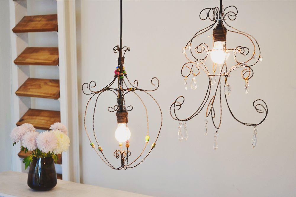 Curso Lámpara de Estilo Romántico Alambre, Iluminación y Araña