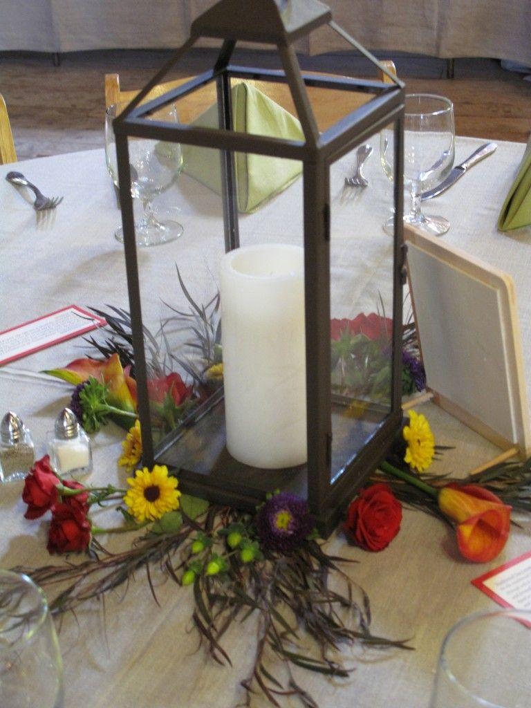 Wedding ideas with lanterns  fall wedding flower centerpieces barn wood  lantern centerpiece