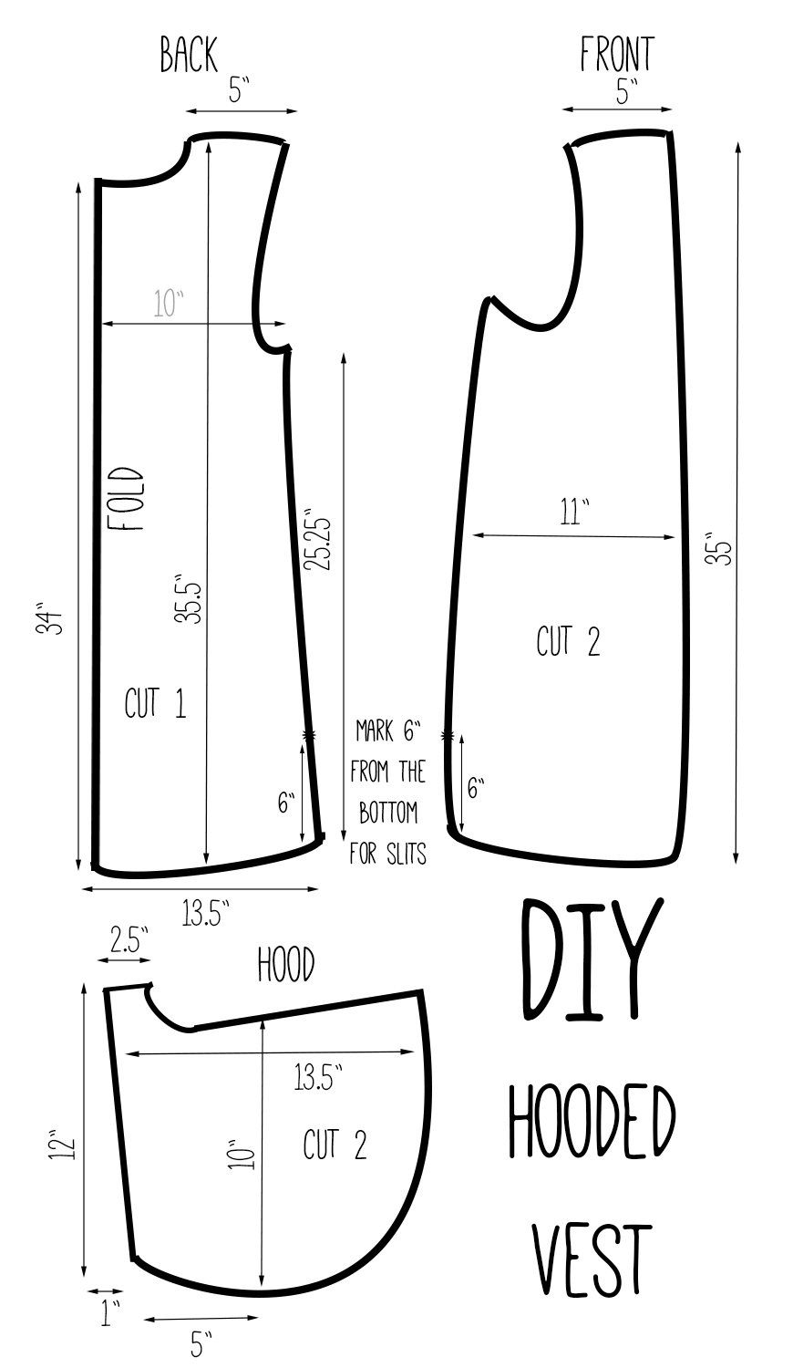 Vest pattern pieces diy hooded vest versatile one vest 3 looks vest pattern pieces diy hooded vest versatile one vest 3 looks pooptronica