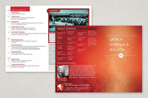 Modern Church Bulletin Brochure Template This Is A Bulletin