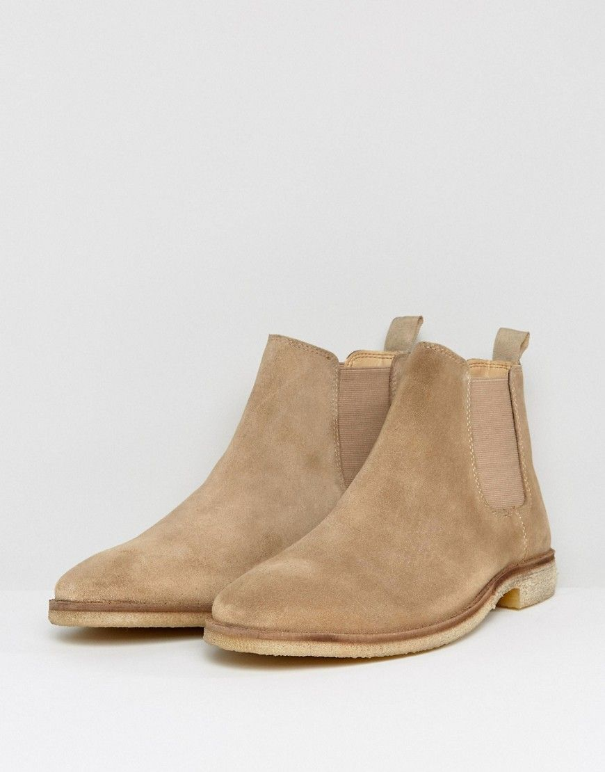 bdaa6455928 Chelsea Boots In Stone Suede With Natural Sole | Products | Chelsea ...