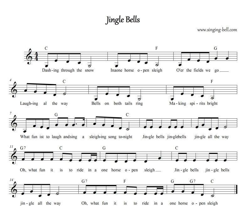 Lyric lyrics of brahms lullaby : Jingle Bells | Jingle bells, Audio songs and Music score