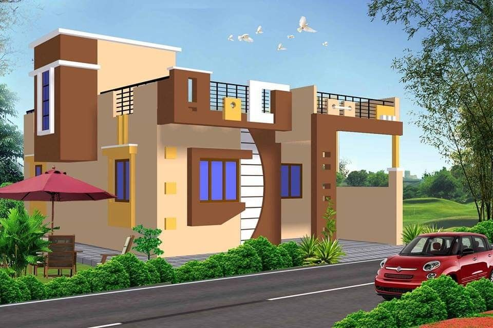 Most 50 Beautiful House Design For 2020 Village House Design Duplex House Design House Outside Design