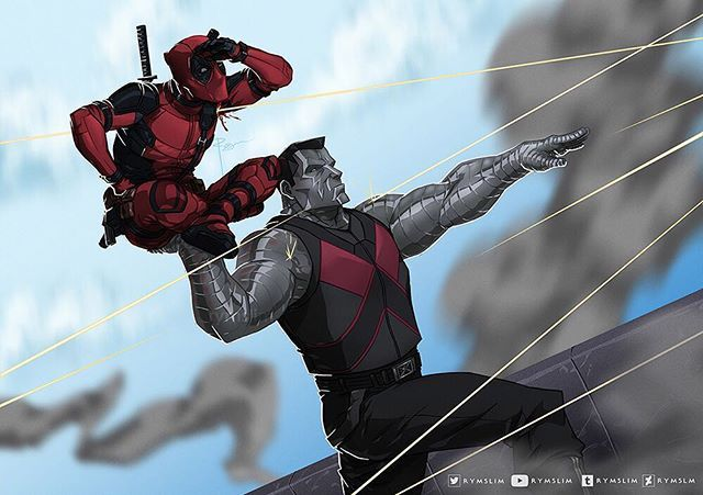 Chrome Dome and Mouthy Merc | #Art by Rymslim | #Deadpool #Colossus #Xmen #Marvel #FanArt