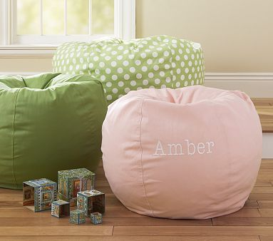 Play Room Pink Bean Bag Kids Bags Chair Pottery Barn