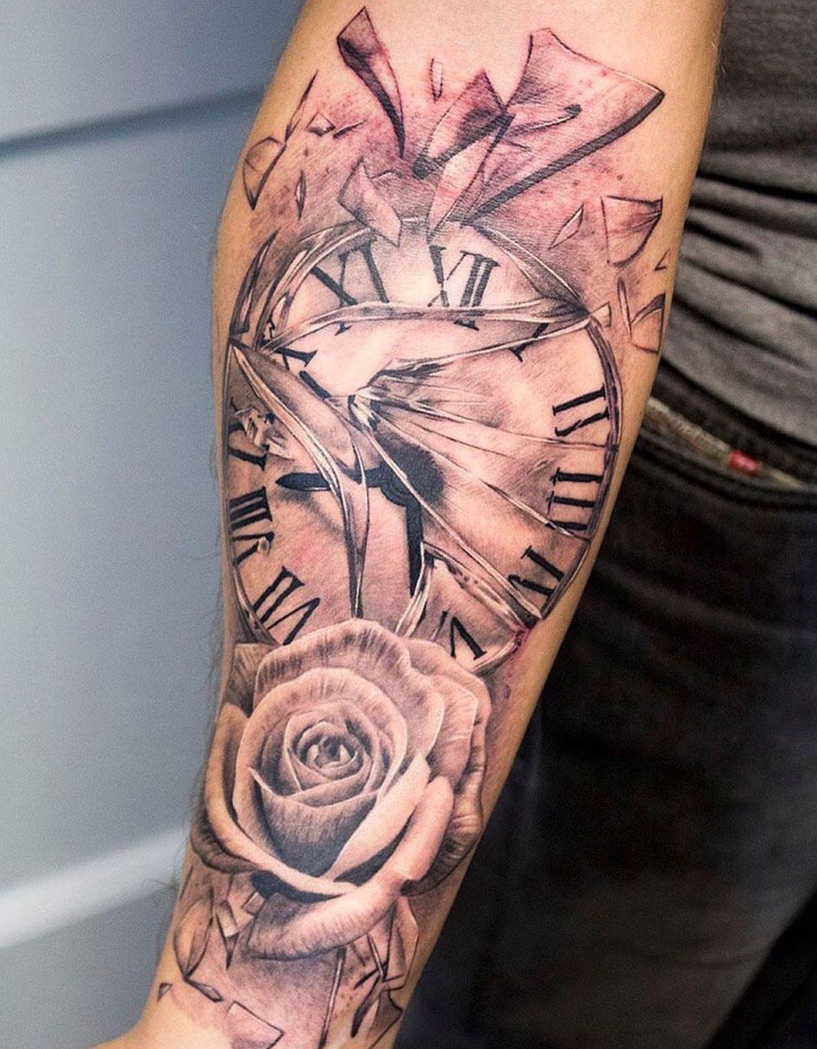 Tattoo Uhr Arm